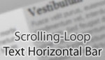 Scrolling-Loop Text Horizontal Bar