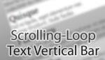 Scrolling-Loop Text Vertical Bar