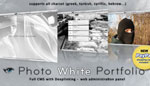 Photo White Portfolio CMS Template Paypal