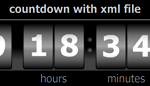 Countdown _ Analogue _ Digital _ XML _ With Days Hours Min Sec