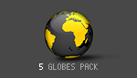 Spinning 3D Earth Globes - Pack of 5