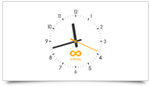 Infinity Customizable Analog Clock