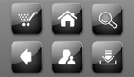 Flash Glassy Black web icons
