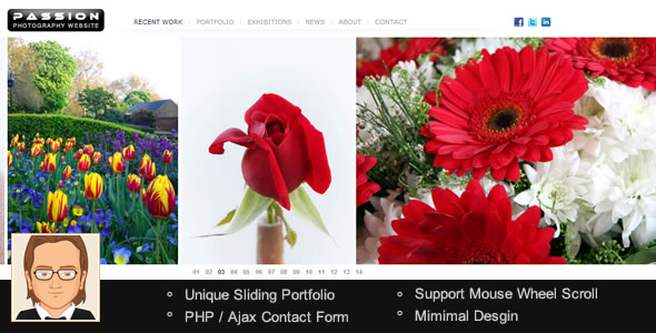 Passion - Minimal HTML5 Photography Website Template - click for preview