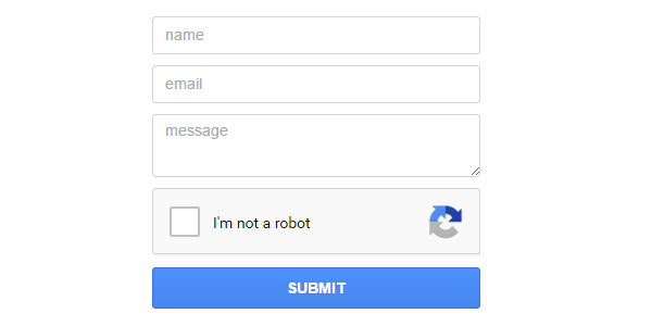 Ajax Contact Form with reCaptcha - click for preview