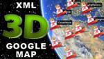 XMASS 3D Google Map