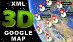 Christmas 3D Google Map v2