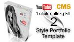 Style portfolio CMS Template 2 - with admin panel
