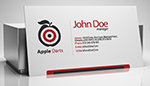 Apple Darts Business Card
